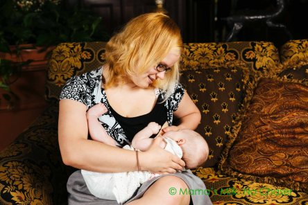 Katy Wentworth with her four-month-old, Holly. Photo Credit: Ana & Ivan Lifestyle Photography