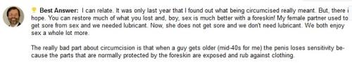 regrow foreskin for masturbation